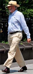 A man wearing chinos.