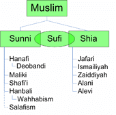 The major movements of Islam