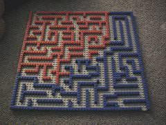 A maze made from Lego blocks