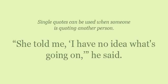 Double Quotes vs. Single Quotes