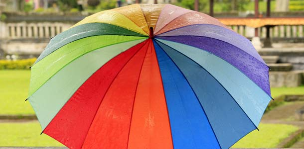 Nylon is well-suited for umbrellas.