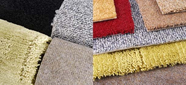 A variety of carpet colors and styles