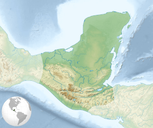 Location of the Mayan civilization in Central and South America.