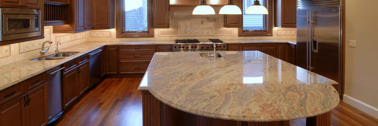 Granite vs marble difference and comparison diffen for Porcelain countertops cost