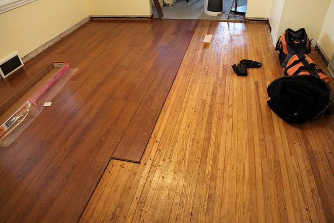 Laminate vs hardwood flooring difference and comparison for Floating hardwood floor