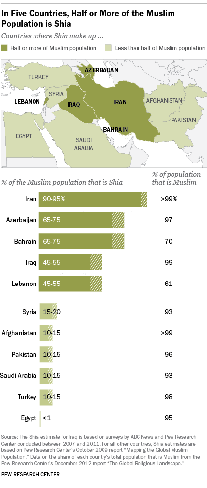 Only a few countries have Shia majorities.