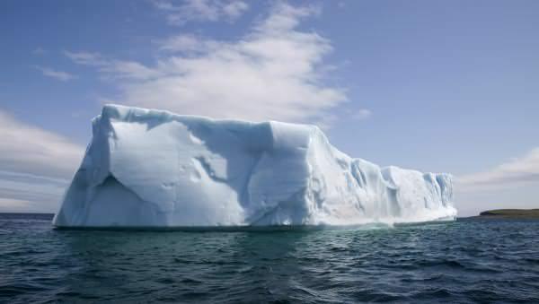 An iceberg in the North Atlantic Ocean