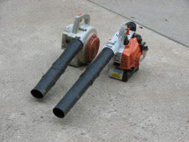 Two gas leaf blowers from Stihl