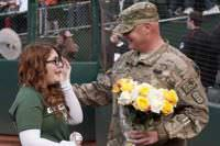 Tears of joy, daughter surprised to her dad (from the army) on her 16th birthday