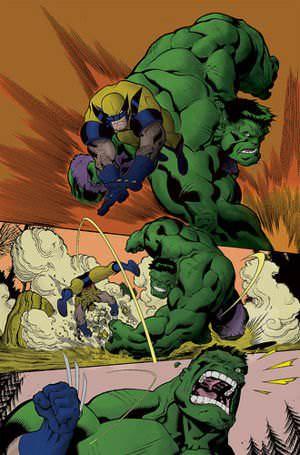 A Hulk vs Wolverine smack-down