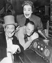 The Villians from Batman: From left: The Penguin (Burgess Meredith), The Riddler (Frank Gorshin), and The Joker (Cesar Romero)