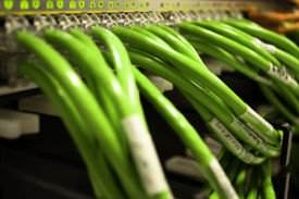 Your computer uses these to talk to other computers - network Cat5e and Cat6 cables