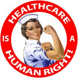 Healthcare is a Human Right! (photo courtesy DonkeyHotey)