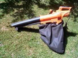 An electric corded leaf blower with vacuum