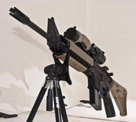 An AR-15 M4 mid.