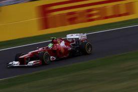 Scuderia Ferrari on a track race