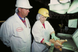HACCP inspection in progress