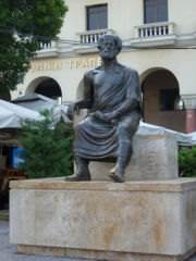 Statue of Aristotle in Thessaloniki (click to enlarge)