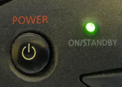 Power button and standby light indicator