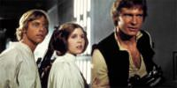 Luke and Princess Leia with Han Solo.