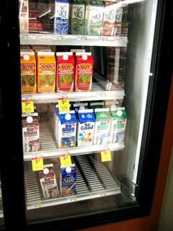Various brands of soy milk in the market