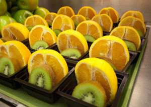 Oranges and Kiwis are both a good source of Vitamin C