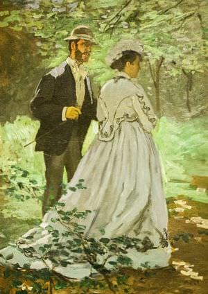 Bazille and Camille by Claude Monet.