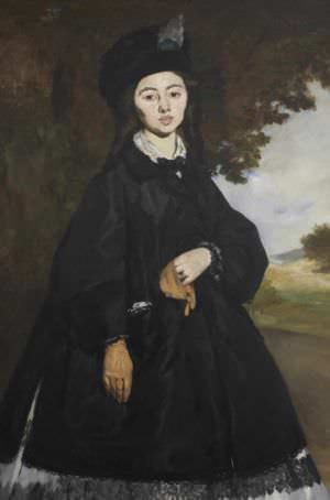 Portrait of Madame Brunet by Édouard Manet.