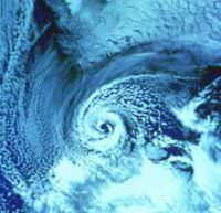 Cyclone over the Barents Sea in 1987.