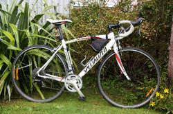 Road bike with lighter frame & drop handlebars