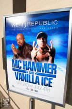 MC Hammer and Vanilla Ice at Wet Republic.