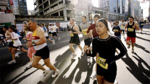 Jogging is a common aerobic and catabolic exercise.