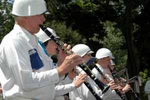 Clarinets at a 4th of July parade.