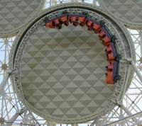 Roller Coaster,an example of Centripetal force in action