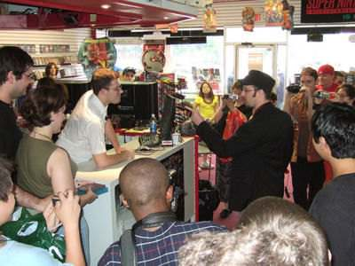 James Rolfe (the Angry Video Game Nerd) vs. the Nostalgia Critic showdown at a video game store in Clifton, NJ, June 28, 2008