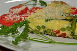 A frittata made with Kosher Salt
