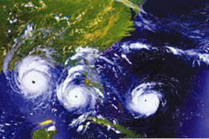 Hurricane Andrew images from GOES NASA