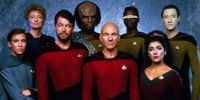 Characters from the 1980s/90s Star Trek: The Next Generation.