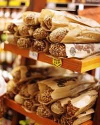 Variety of breads made from whole grain