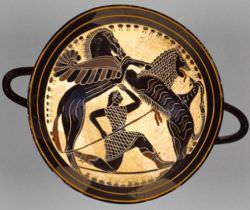 Lakonian Black-Figure Kylix; Sparta c. 570 B.C.
