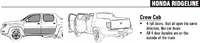 Honda Ridgeline cab styles