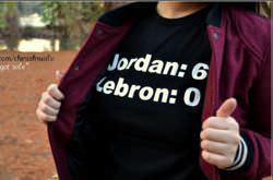 A LeBron vs James T-shirt