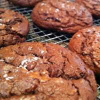 Cookies sprinkled with Sea Salt
