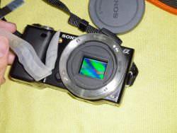 A CMOS image sensor inside a camera