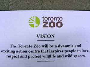Vision Statement of the Toronto Zoo