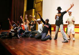 Iraqi Hip Hoppers aspiring artists at National Unity Performing and Visual Arts Academy in Iraq, 2007