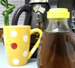 Tea served with fresh honey