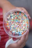 Rainbow Dippin' Dots ice cream.