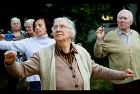Group activities at a nursing home