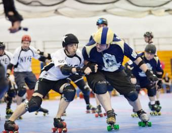 A game of New York Men's Roller Derby